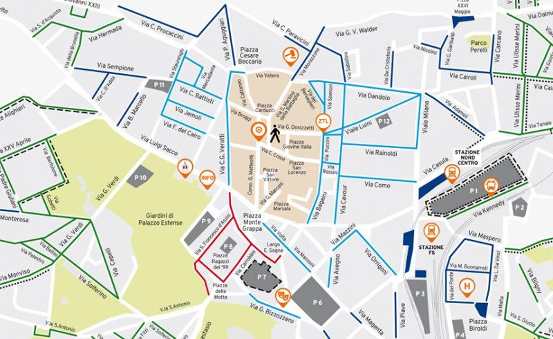 Varese Cartina.Piano Sosta La Mappa Scaricabile Con Aree Parcheggi E Tariffe Varese Si Muove